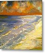 Sunset Passion At Cranes Beach Metal Print