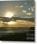 Sunset Porthleven Cornwall Summer 2005 Metal Print