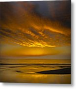 Sunset Power Metal Print by Thomas Pettengill