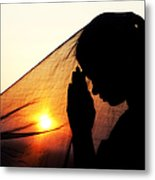 Sunset Prayers Metal Print