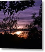 Sunset Purple Sky Metal Print