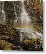 Sunset Rainbow At Amicalola Falls Metal Print