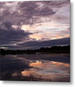 Sunset Reflected In A Lake Metal Print