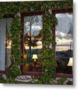 Sunset Reflection On Empress Window Metal Print