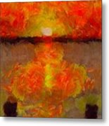 Sunset Reflections On The Dock Metal Print