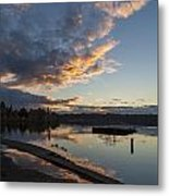 Sunset Ripples In Time Metal Print
