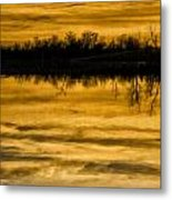 Sunset Riverlands West Alton Mo Sepia Tone Dsc03319 Metal Print
