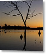 Sunset Riverlands West Alton Mo Portrait Dsc06670 Metal Print