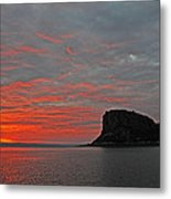Sunset Rock Metal Print