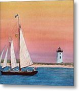 Sunset Sail Metal Print