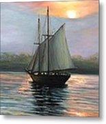 Sunset Sails Metal Print