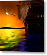 Sunset Sails Metal Print by Lourry Legarde