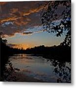 Sunset Scene At The River Metal Print