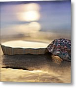 Sunset Shells Metal Print