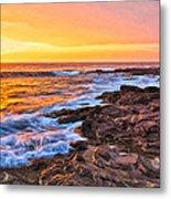 Sunset Shore Break Metal Print