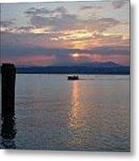 Sunset. Sirmione. Lago Di Garda Metal Print