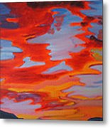 Ruby Red Sunset Metal Print