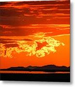 Sunset Sky Fire Metal Print