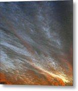 Sunset Sky With Cirrocumulus Clouds Usa Metal Print