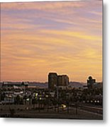 Sunset Skyline Phoenix Az Usa Metal Print