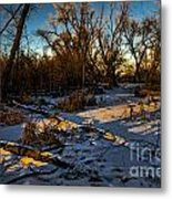 Sunset Snow Metal Print by Baywest Imaging