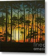 Sunset Over St. Joseph's Peninsula Metal Print