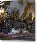 Sunset Steam Metal Print