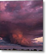 Sunset Storm Metal Print