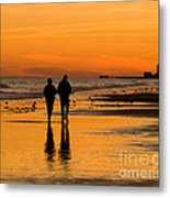 Sunset Stroll Metal Print by Al Powell Photography USA