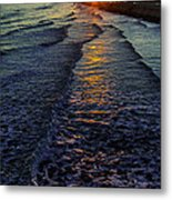 Sunset Surf Metal Print by Perry Webster