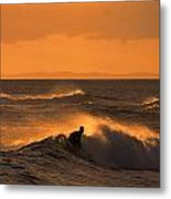 Sunset Surfer Metal Print