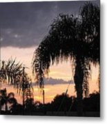 Sunset Through The Palms Metal Print