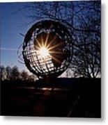 Sunset Through The Unisphere Metal Print