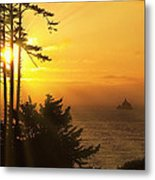 Sunset Thru The Trees Metal Print by Andrew Soundarajan
