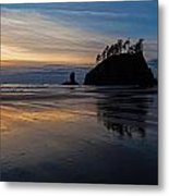 Sunset Tide Metal Print