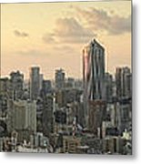 Sunset Tokyo Tower Panorama Metal Print