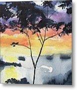 Sunset Tree Koh Chang Thailand Metal Print