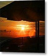 Sunset Under The Umbrella By Diana Sainz Metal Print