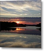 Sunset Up The Sebec Metal Print