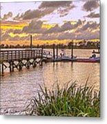 Sunset View Boardwalk Metal Print