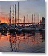 Sunset View From Charleson Park In Vancouver Bc Metal Print