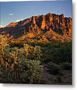Sunset View Of The Superstitions  Metal Print