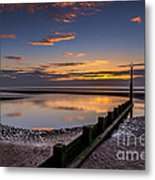 Sunset Wales Metal Print by Adrian Evans