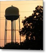 Sunset Water Tower Metal Print