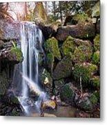 Sunset Waterfalls In Marlay Park Metal Print