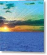 Sunset Waters Metal Print