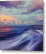 Sunset Wave. Maldives Metal Print