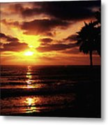 Sunset With Friends Metal Print