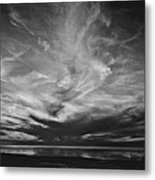 Sunset With No Color Metal Print