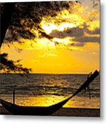 Sunset With The Sea. Metal Print